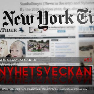 Nyhetsveckan #53 – Vi är alla ryska agenter, uzbekiska terrorister, Bechir Rabani, stackars Greta