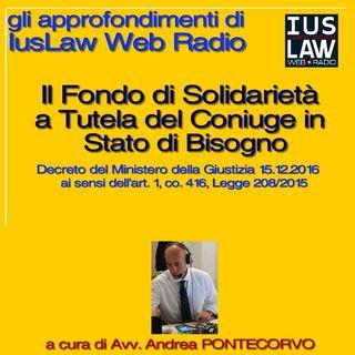 Il Fondo di Solidarietà a Tutela del Coniuge in stato di Bisogno (PARTE PRIMA: LA NORMATIVA)