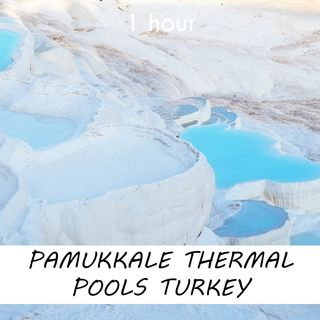Pamukkale Thermal Pools, Turkey   1 hour RIVER Sound Podcast   White Noise   ASMR sounds for deep Sleep   Relax   Meditation   Colicky