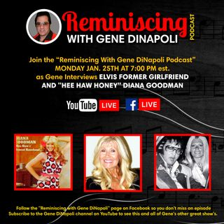 Diana Goodman, Actress and Elvis Presley's former girlfriend get's interviewed by Gene DiNapoli