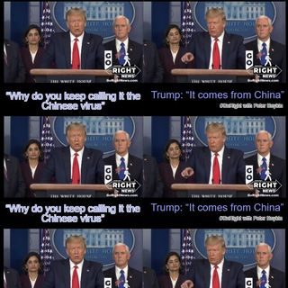 Why Do You Call It the China Virus? Maybe because it came from China? Trump reminds the Press