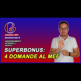 SUPERBONUS 110 ultime notizie nuove domande al MEF