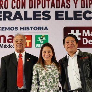 Refrendan Morena, PT y Verde apoyo a López Obrador