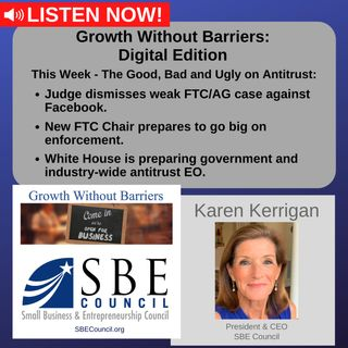 """Growth Without Barriers - DIGITAL EDITION: We discuss """"Antitrust This Week - The Good, the Bad & the Ugly."""""""
