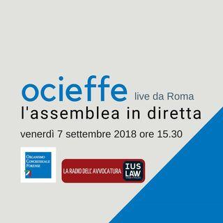 Assemblea OCF 7-8 settembre 2018  – Venerdì 7 settembre 2018