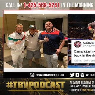 ☎️Andy Ruiz Jr. Is He Really With Canelo Team🇲🇽Eddy Reynoso❓ Or 👀Training Himself Again😱