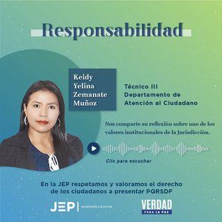 4. RESPONSABILIDAD | Keidy Zemanate, profesional de Atención al Ciudadano de la JEP | EPISODIO 4
