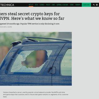 Hackers steal secret crypto keys for NordVPN. | TWiT Bits