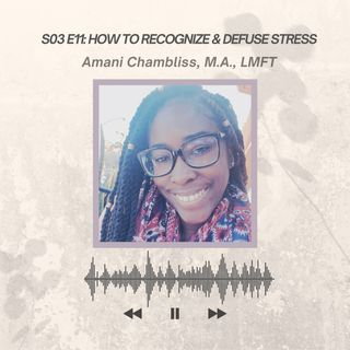 S03 E11: How to Recognize & Defuse Stress, Interview with Amani Chambliss, M.A., LMFT