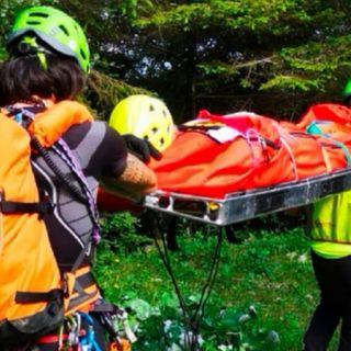 Scalatore colpito da un sasso su una via del Cornetto: tratto in salvo dal soccorso alpino