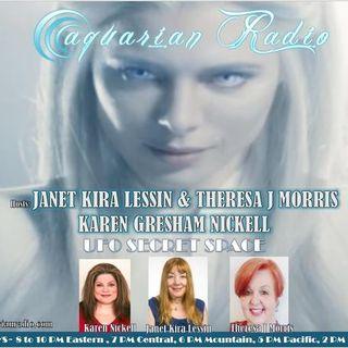 UFO Secret Space ~ 08/14/20 ~ Janet Kira Lessin, Theresa Morris & Karen Nickell