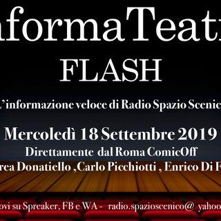 InformaTeatro Flash Mercoledì 18 Settembre 2019