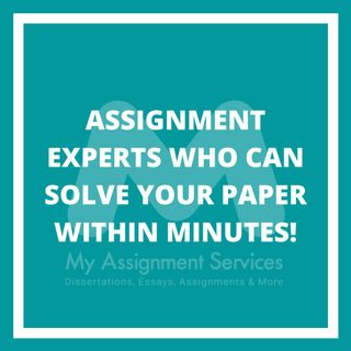 Assignment Experts who can solve your paper within minutes!