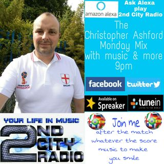 The Monday Mix with Christopher Ashford on 2nd City Radio