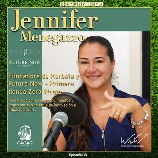 E18 Jennifer Menegazzo Emprende proyectos de impacto social nos invita reflexionar sobre nuestra forma de consumo. Back to basics
