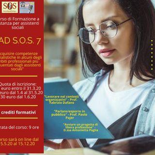 Presentazione del corso FAD S.O.S. 7