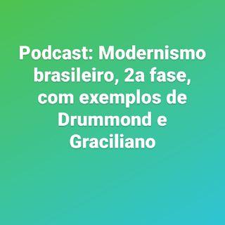 Meu primeiro podcast: Modernismo 2a fase. Drummond E Graciliano