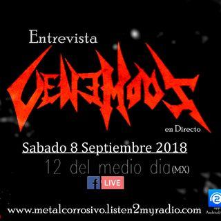 entrevista - Venemous 8/09/18