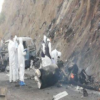 13 los muertos por explosión de pipa en la autopista Tepic-Guadalajara