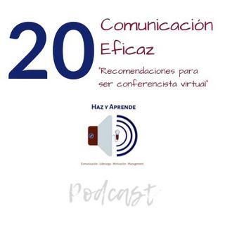 """Episodio #020 """"Recomendaciones para ser un conferencista virtual"""""""