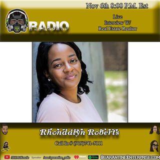 Quarantine Radio Speak with Realtor Rhondalyn Roberts