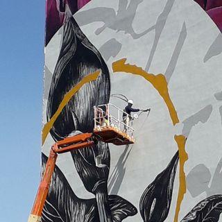 Café Bleu - Il murale di Fabio Petani a Napoli