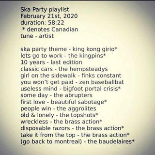 ska party late february 2020