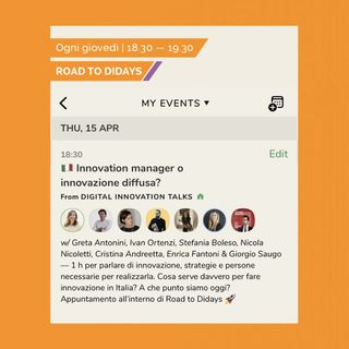 Road to Didays - Innovation Manager o Innovazione Diffusa?