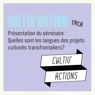 Pod'TACK's : Cultiv'actions, quelles sont les langues des projets culturels transfrontaliers ?