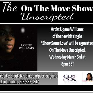Artist Ugene Williams is stopping by to speak with Patricia & Mr. Stout