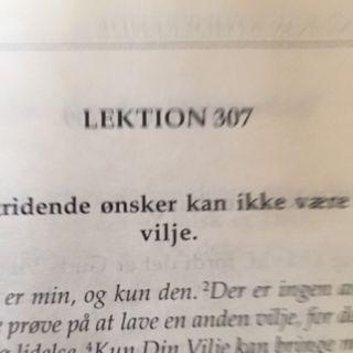 Lektion 307. Et kursus i mirakler.