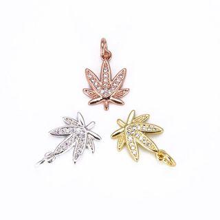 Marijuana Leaf Charm Pendant