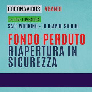 Bando 'Safe Working – Io Riapro Sicuro', Regione Lombardia