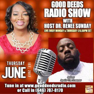 Author Apollo The Dreamer shares on Good Deeds Radio Show