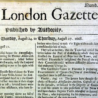 Youth Radio - Gazette the worlds first newspaper