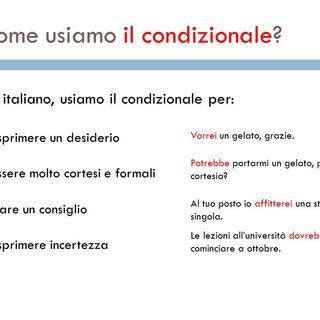 Grammatica italiana Verbo Essere Condizionale e Imperativo