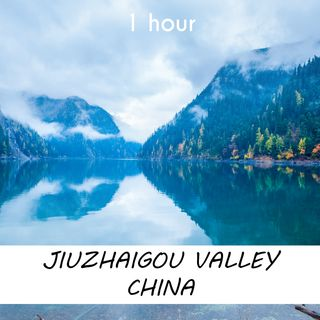 Jiuzhaigou Valley China | 1 hour FOREST Sound Podcast | White Noise | ASMR sounds for deep Sleep | Relax | Meditation | Colicky