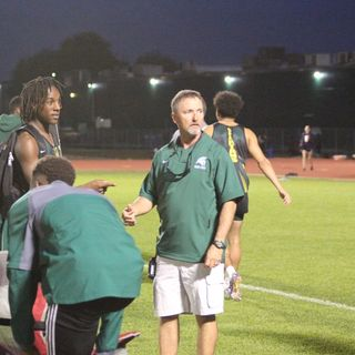 Coach Tony Brillon of the Stratford Spartans Track & Field & Cross Country Teams