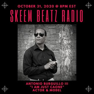 Actor Antonio Burguillo III Stops By Skeem Beatz Radio Music Review to Speak with Kenneth Stout and Patricia M. Goins