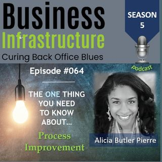 Episode 64: The One Thing You Need to Know About Process Improvement   Alicia Butler Pierre