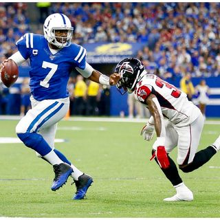 Colts Weekly presented by Bet Now, Jacoby Brissett breaks out! Falcons review and Raiders preview, W/Steve Risley and Cole Hanna