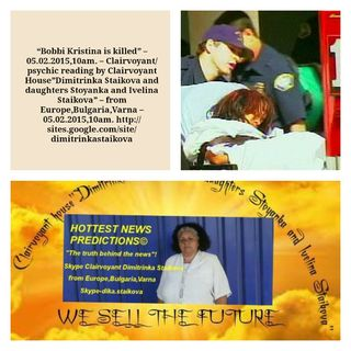 """Bobbi Kristina is killed"" –Psychic"
