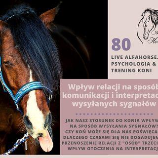 Live 80: Wpływ relacji na wysyłane sygnały i ich interpretację w treningu koni