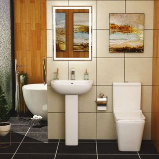 SMALL BATHROOMS CAN ALSO BE ADORNED WITH SUITES