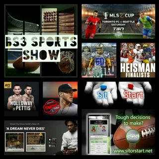 BS3 Sports Show 12.10.16 Pt. 1 (Sponsored by @SitOrStartApp)