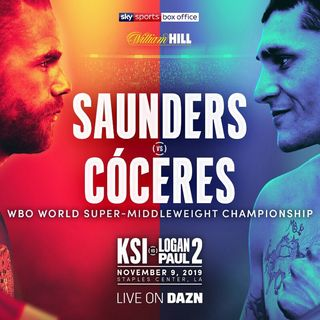Big Fight Announcement! Billy Joe Saunders Will Fight Marcelo Cóceres For WBO Super Middleweight Title Live On DaznUSA And Sky Sport's PPV