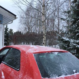 30. Lumet pois auton katolta ja matkaan kotipihalta