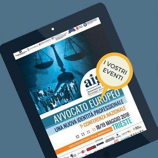 Avvocato Europeo - Una nuova identità professionale - Sabato 19 Maggio