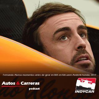 #AlonsoRunsIndy El debut de Alonso en Indianapolis