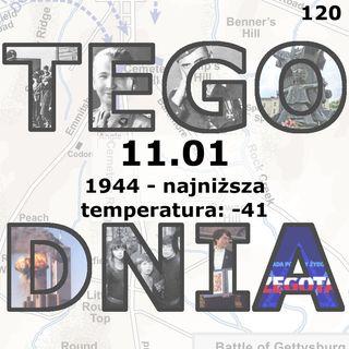 Tego dnia: 11 stycznia (najniższa temperatura w historii Polski –41 °C)